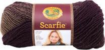 Lion Brand Yarn 826-222 Scarfie Yarn, One Size, Eggplant/Taupe