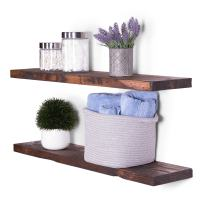"DAKODA LOVE 36"" x 8"" Rugged Distressed Solid Wood Floating Shelves 