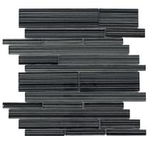 MTO0016 | Modern Linear Black Glossy Glass Tile
