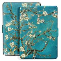 Ayotu Colorful Case for Kindle Paperwhite Auto Wake/Sleep Smart Protective Cover - Fits All Paperwhite Generations Prior to 2018(Not Fit All-New Kindle Paperwhite 10th Gen) K5-09 The Apricot Flower