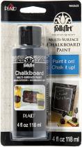 FolkArt 2562E Plaid Folk Art Chalkboard Paint 4oz Black Carded, 4 Ounce