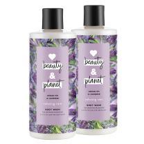 Love Beauty & Planet Relaxing Rain Body Wash Argan Oil & Lavender 16 oz, 2 count