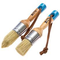 1st Place Chalked Finish Paint & Wax Hand Made Pure Bristle 2 Piece Brush Set
