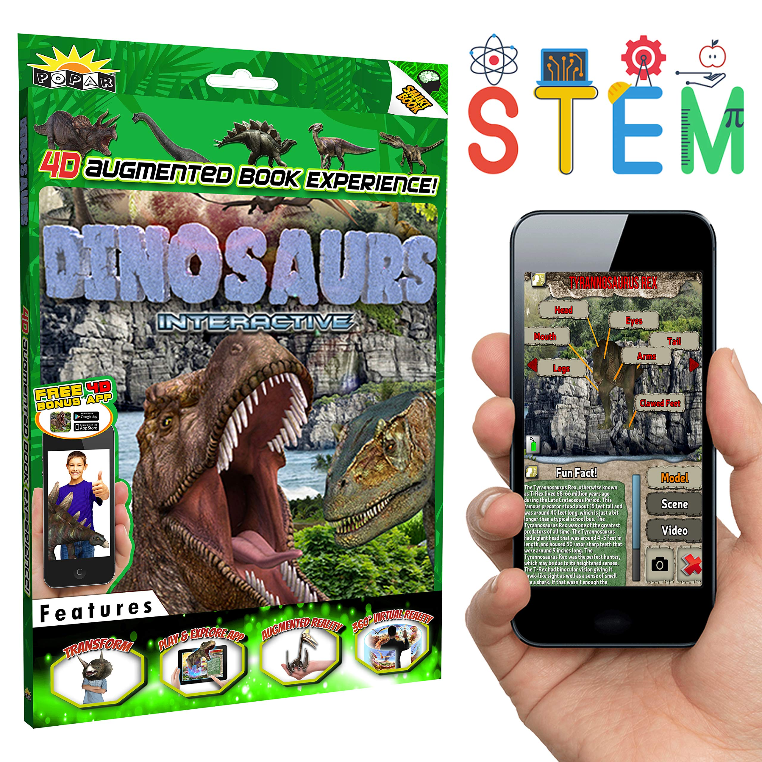 POPAR READ IT. SEE IT. BE IT. Dinosaurs 4D Interactive Smart Book and App