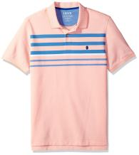 IZOD Men's Advantage Performance Short Sleeve Stripe Polo