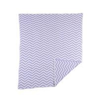 Lolli Living Chevron Chenille Blanket, Purple