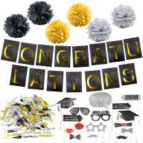 2020 Graduation Party Supplies Bundle, Graduation Banner Sign, Graduation Photo Booth Props, Graduation Pom Poms and Graduation Confetti, Graduation Party Supplies, Graduation Decorations