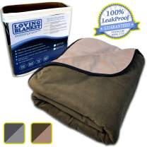 LovingBlanket 100% Leak Proof, Waterproof (Colors/Sizes) Totally Pee Proof, EZ-Wash, Durable, 3 Layer Blanket | Baby, Adults, Pets, Dogs, Cats, Cozy Soft