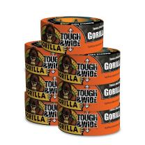 """Gorilla Black Tough & Wide Duct Tape, 2.88"""" x 30 yd, Black, (Pack of 7)"""