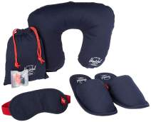 Herschel Travel Amenity Kit-Slippers, Eyemask & Pillow