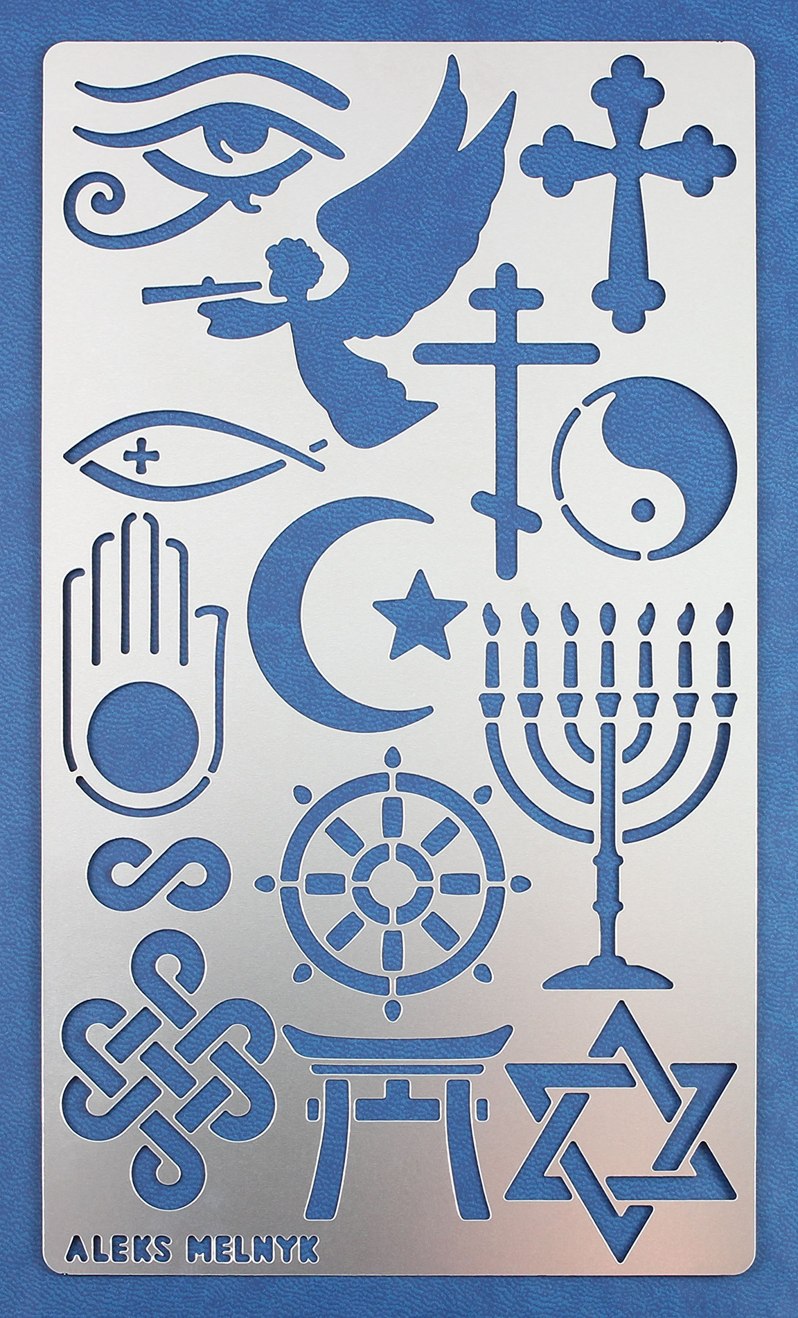 Aleks Melnyk #25 Metal Journal Stencil/Religion/Stainless Steel Stencil 1 PCS/Template Tool for Wood Burning, Pyrography and Engraving/Scrapbooking/Crafting/DIY
