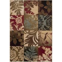"""Artistic Weavers Riley RLY-5015 Transitional Machine Made 100% Polypropylene Jet Black 2' x 3'3"""" Floral Accent Rug"""