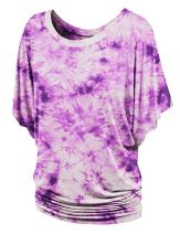 LL Womens Short Sleeve Oversized Ombre Tie-Dye Tee Shirt - Made in USA