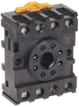 Omron PF083A-E General Purpose Track Mounted Socket, With Finger Protection, 2 Poles, 10 A Maximum Carry Current, For Use With MKS2 Series Relays