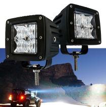 OZ-USA 4D POD Flood LED Lights Fog ATV Offroad 3 x 4 Race Beam Truck Motorcycle Cube