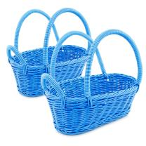 Colorbasket Wine Bottle Basket - Dark Blue, Set of 2