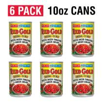 Red Gold Petite Diced Tomatoes & Green Chilies Original Tex-Mex, 10oz Can (Pack of 6)