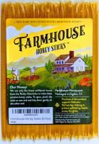 Farmhouse Honey Sticks, All Natural Real American Honey Stix, Easy to Open Honey Straws for Tea (20 Pack)