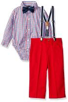 Nautica Boys Set with Shirt, Pant, Suspenders, and Bow Tie