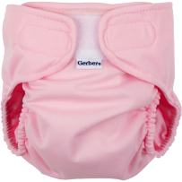 Gerber All-in-One Reusable Diaper with Insert Starter Set, Pink, Small
