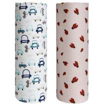 Cuddles & Cribs 2 Pack GOTS Certified Organic Cotton Fitted Crib Sheet – Cars, Ladybug