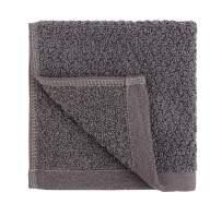 Everplush Diamond Jacquard Quick-Dry Washcloth Towel Set, 6 x (13 x 13 in), Charcoal 6 Count