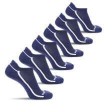 MIRMARU 6 Pairs Running Low Cut Athletic Cushion Tab Breathable Comfortable Cotton Socks for Men and Women