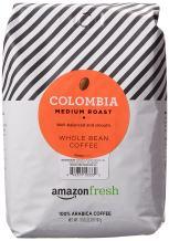 AmazonFresh Colombia Whole Bean Coffee, Medium Roast, 32 Ounce (Pack of 1)