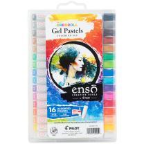 PILOT Enso Creoroll Gel Pastel Set, 16 Assorted Vivid Colors (17000)