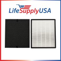 LifeSupplyUSA Replacement Filter Set Compatible with Levoit Air Purifier LV-PUR131, LV-PUR131-RF True HEPA & Activated Carbon Filters Set