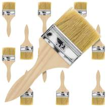US Art Supply 12 Pack of 3 inch Paint and Chip Paint Brushes for Paint, Stains, Varnishes, Glues, and Gesso