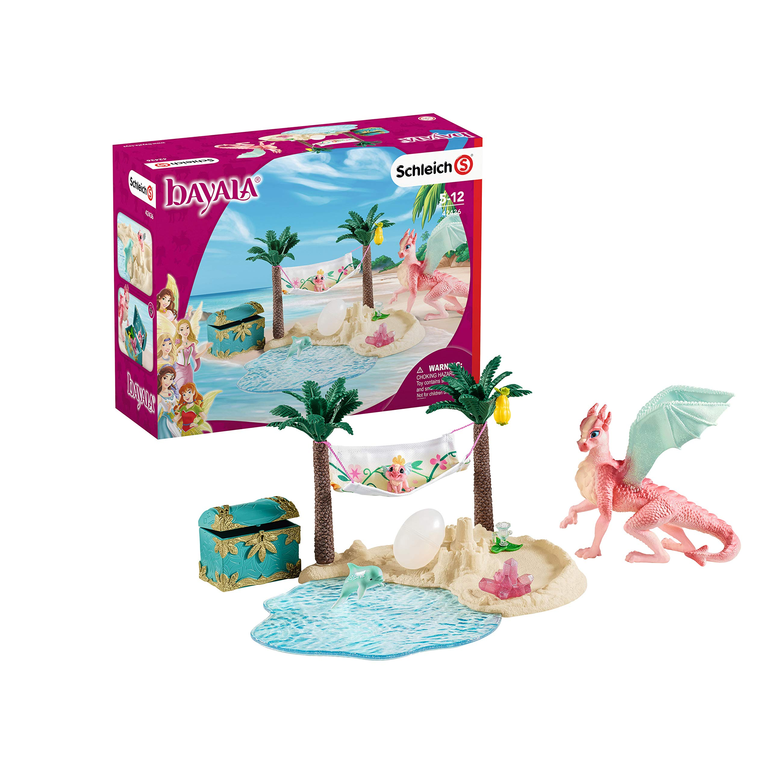Schleich bayala Dragon Island with Treasure 14-piece Imaginative Playset for Kids Ages 5-12