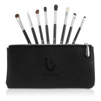 Eyeshadow Blending Makeup Brush Set – Free Case Includes 8 Must Have Eye Shadow & Eyeliner Brushes: Pencil, Tapered Blending, Crease, All Over Shader, Eye Liner, Angled Shading, Flat Definer, Blending