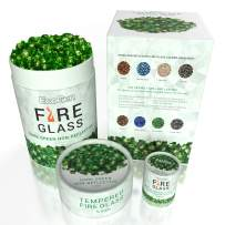 EcoGen Fire Glass Rocks for Outdoor Fire Pits and Indoor Fireplace, Color, Optimal Heat for Propane or Gas, Tempered and Reflective, Eco-Friendly Packaging, Dark Green 1/4 inch Non-Reflective 12 lbs.