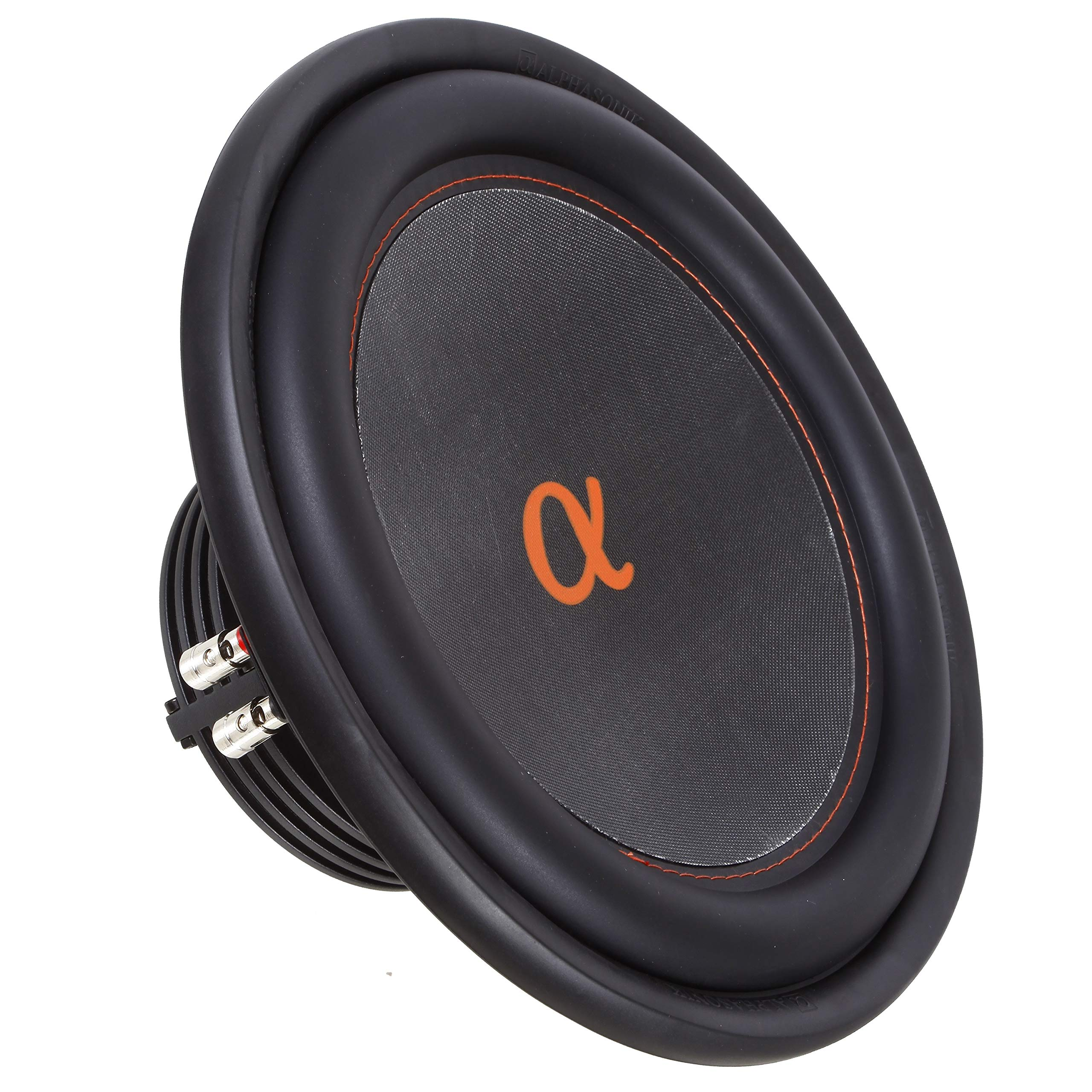 """Alphasonik NSW412 Neuron 400 Series 12"""" 1500 Watts Max / 500 Watts RMS Dual 4 Ohm Car Subwoofer w/ High Grade Magnet Non Pressed Paper Carbon Stitched Cone Cooling Rings System Speaker Bass Sub Woofer"""