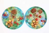 Playte- Play Together - The Adventouros Kids Plate - Gamifying Dinner Time - Teach Your Child Healthy Eating Habits & Keep Them Food-Focused - Perfect for Picky Eaters - BPA-Free & Dishwasher Safe