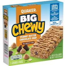 Quaker Big Chewy Granola Bars, Peanut Butter Chocolate Chip, 5 Bars
