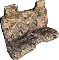 RealSeatCovers 3 Layer Seat Cover for 2002 Toyota Tacoma Front Bench 8mm Thick A25 Molded Headrest Small Notched Cushion (Muddy Water Camo)