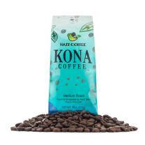 Hawaiian Kona Coffee (Medium-Dark Roast) Pure, Natural Whole Beans, Rich Body and Aroma, 1 lb.