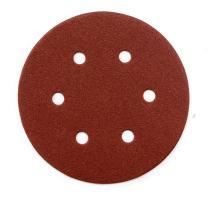 POWERTEC 45208 80 Grit 6 Inch Sanding Disc | 6 Hole Hook and Loop Backing Pad | Aluminum Oxide Round Sandpaper Disc for Random Orbit Sander – 25 Pack
