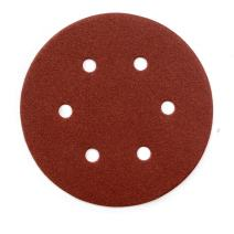 POWERTEC 45212 A/O Hook and Loop 6 Hole Disc, 6-Inch, 120 Grit, 25 PK