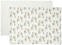 Touched by Nature Unisex Baby and Toddler Organic Cotton Toddler Pillowcase, Elephants, One Size