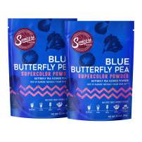 Suncore Foods – Premium Blue Butterfly Pea Supercolor Powder, 3.5oz each, 7oz total (2 Pack) – Natural Butterfly Pea Flower Food Coloring Powder, Plant Based, Vegan, Gluten Free, Non-GMO