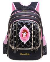 Girls Backpack, Wraifa Cute Bow School Bag Bookbag for Primary Kids Grade 1-6