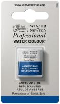 Winsor & Newton Professional Water Colour Paint, Half Pan, Antwerp Blue