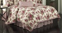 WAVERLY Norfolk Reversible Quilt Collection, Twin, Tea Stain