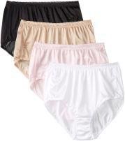 Just My Size Women's Just My Size Women's 4-pack Nylon Brief Panties
