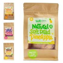 Yuthfarm – Soft Dried Pineapple 7 Oz On The Go Pack – Organic Dried Pineapple, Dried Fruit Snacks, Non GMO, No Artificial Flavor and Preservatives, Nutritious and Healthy Pineapple Snacks