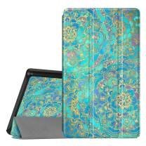 Fintie Slim Case for All-New Amazon Fire 7 Tablet (9th Generation, 2019 Release), Ultra Lightweight Slim Shell Standing Cover with Auto Wake/Sleep, Shades of Blue