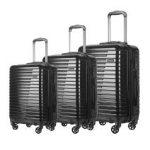 HyBrid & Company Luggage Set Durable Lightweight Spinner Suitcase LUG3-696, 3 Pieces, Black